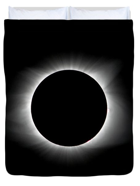 Solar Eclipse Ring Of Fire Duvet Cover