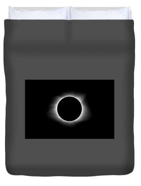Solar Eclipse Ring Of Fire Duvet Cover