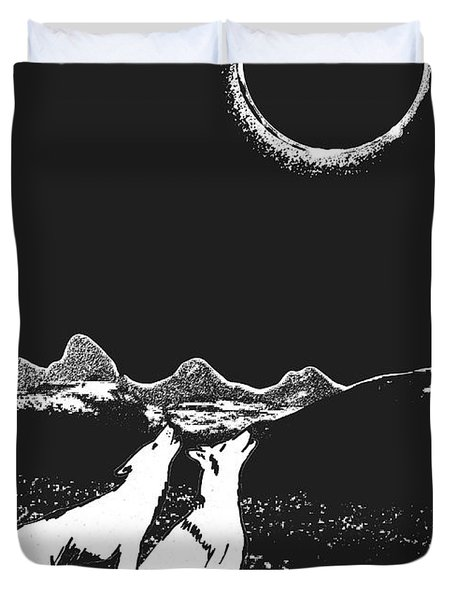 Solar Eclipse Duvet Cover