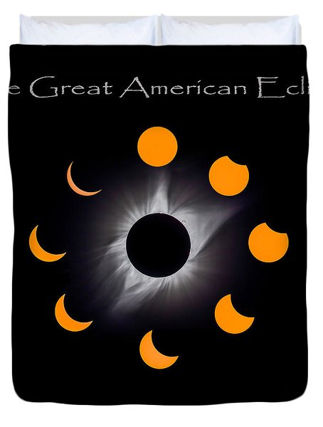 Solar Eclipse Stages Duvet Cover