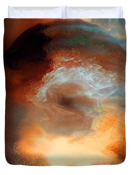 Solar Eruption Duvet Cover by Linda Sannuti