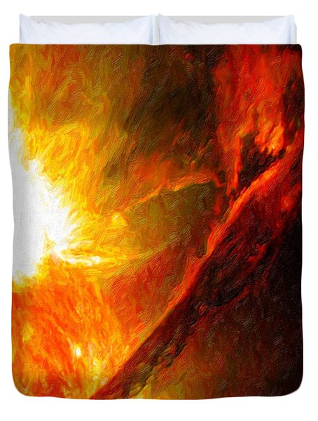 Solar Mass Ejection Duvet Cover