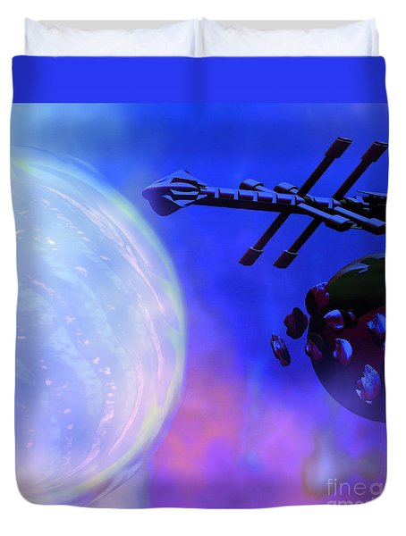 Solar Nexus Duvet Cover by Corey Ford