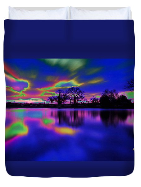 Solar Sunset Duvet Cover