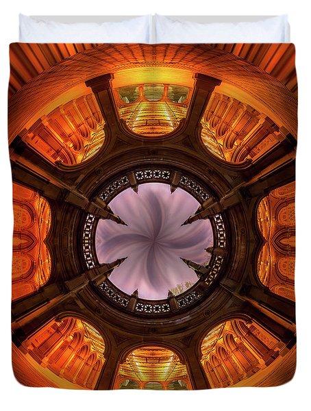 Solar Worship Duvet Cover by Az Jackson