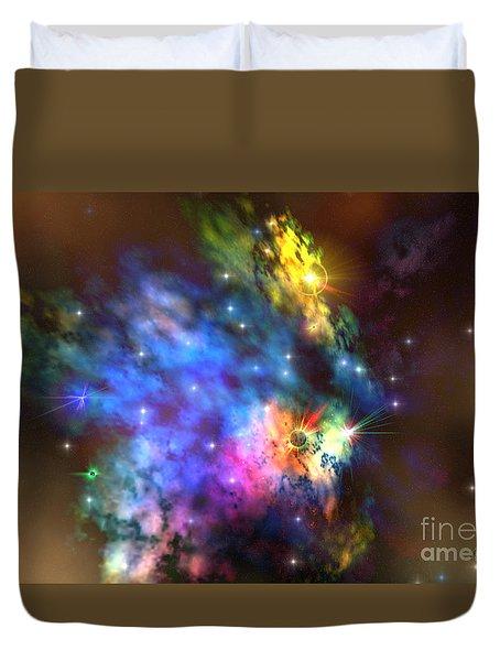 Solaris Nebula Duvet Cover by Corey Ford