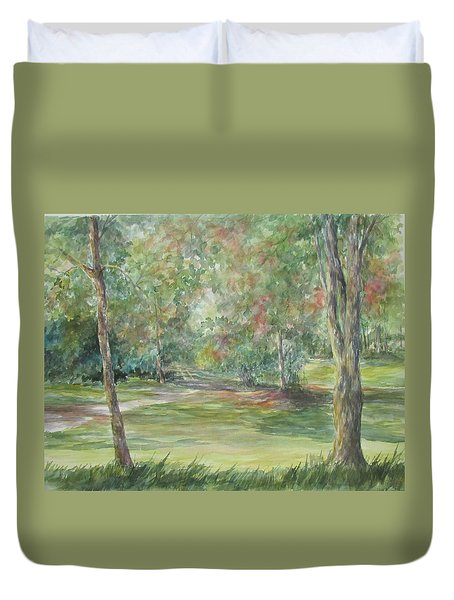 Sold River Nature Trails Duvet Cover by Gloria Turner