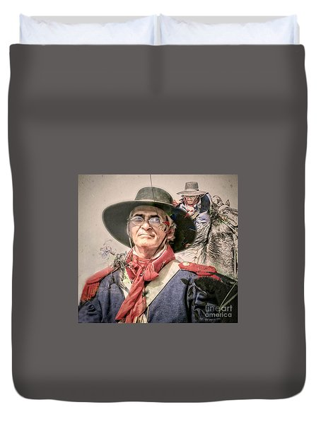 Duvet Cover featuring the mixed media Soldado Composite by Kim Henderson
