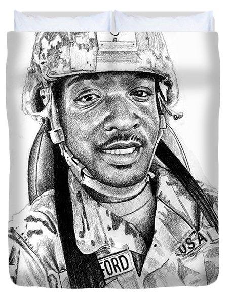 Soldier Eric Duvet Cover
