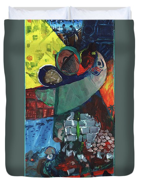 Soldier Family Sacrifice Duvet Cover