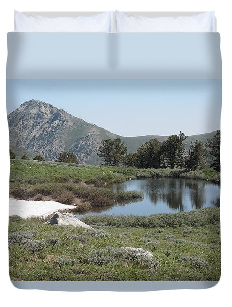 Soldier Lake And Peak Duvet Cover