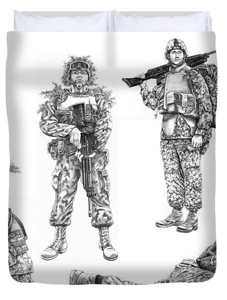 Soldiers Duvet Cover by Murphy Elliott