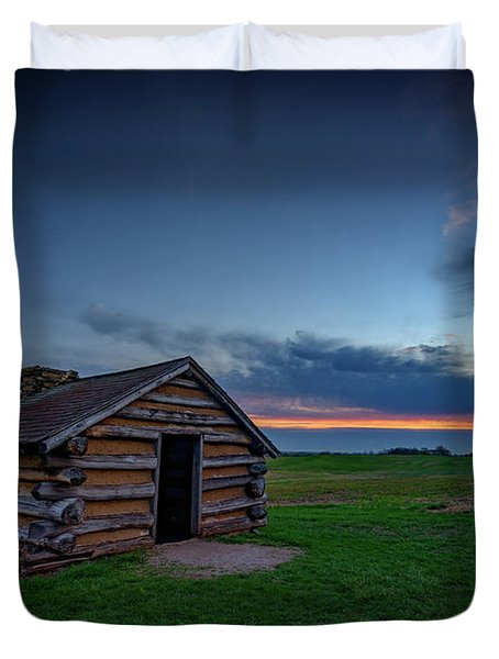 Soldier's Quarters At Valley Forge Duvet Cover