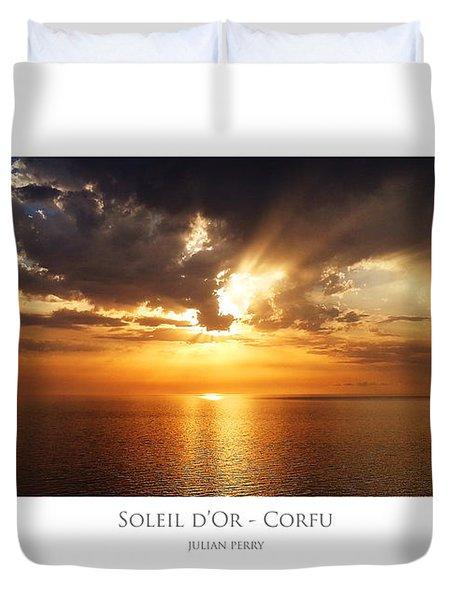 Soleil D'or - Corfu Duvet Cover