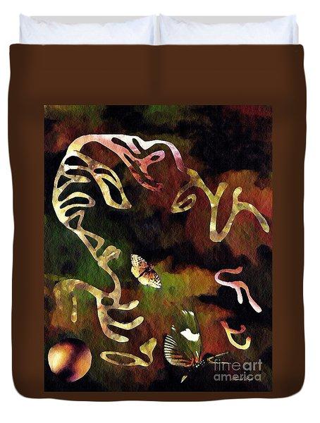 Solemn Wing Dance Duvet Cover by Sarah Loft