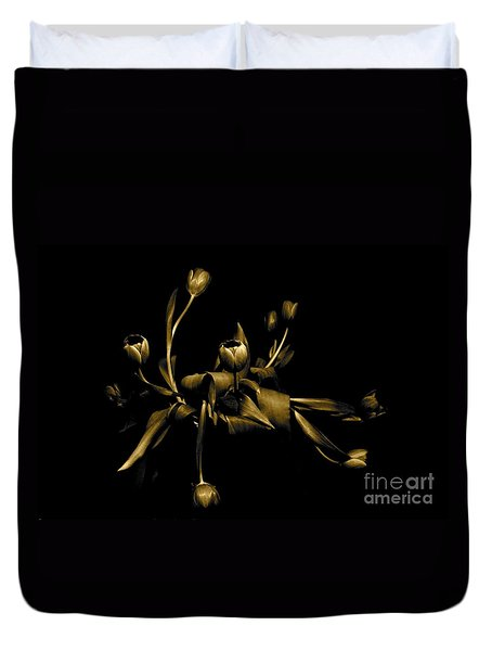 Duvet Cover featuring the photograph Solid Gold by Danica Radman