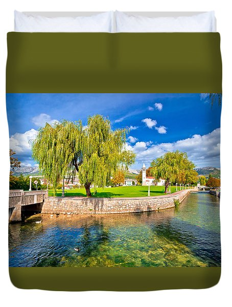 Solin And Jadro River Autumn View Duvet Cover by Brch Photography