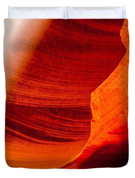 Solitary Beam Duvet Cover