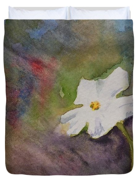 Solitary Flower Duvet Cover by Gretchen Bjornson