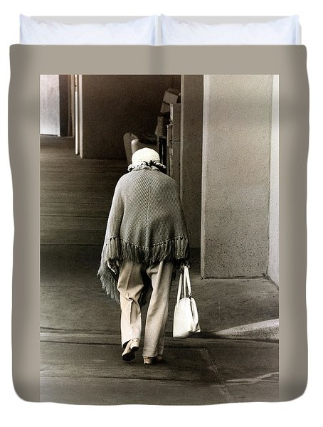 Solitary Lady Duvet Cover