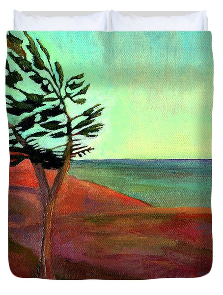 Solitary Pine Duvet Cover by Claire Bull