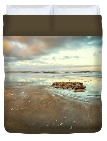 Solitary Rock Duvet Cover