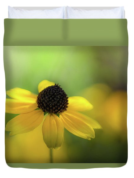 Solitary Suzy Duvet Cover by Peter Scott