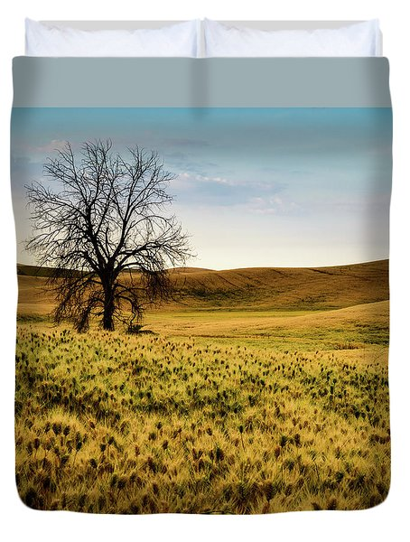 Solitary Tree Duvet Cover by Chris McKenna