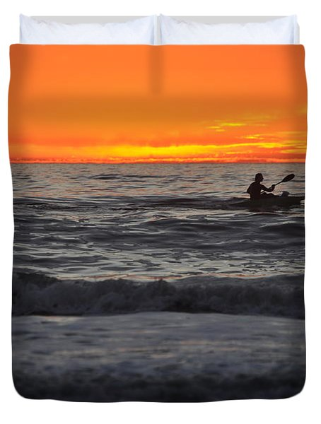 Solitude But Not Alone Duvet Cover
