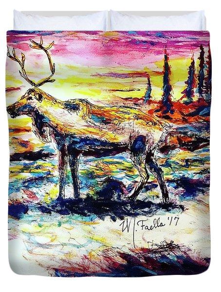 Solitude Caribou Duvet Cover