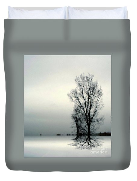 Duvet Cover featuring the digital art Solitude by Elfriede Fulda