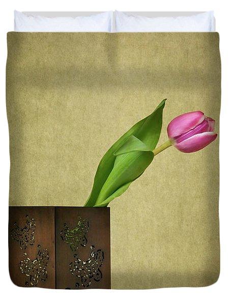 Solitude In Bloom Duvet Cover