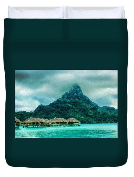 Solitude In Bora Bora Duvet Cover