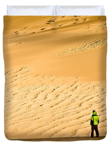 Solitude In The Dunes Duvet Cover
