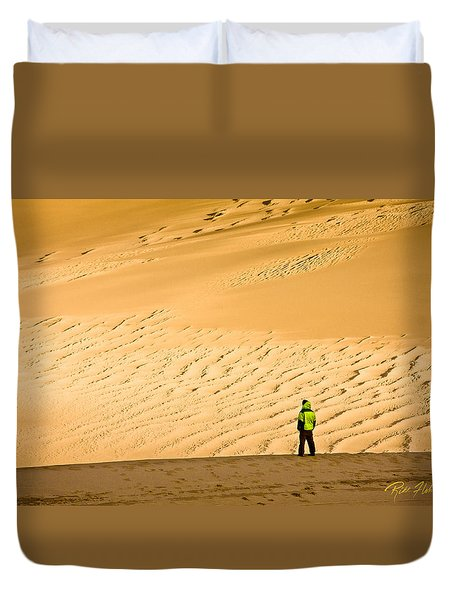Duvet Cover featuring the photograph Solitude In The Dunes by Rikk Flohr
