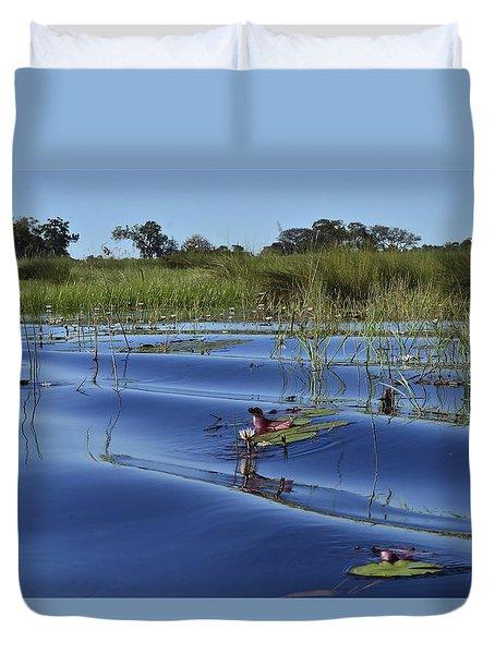 Solitude In The Okavango Duvet Cover