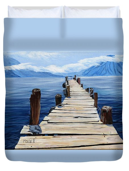 Crooked Dock  Duvet Cover