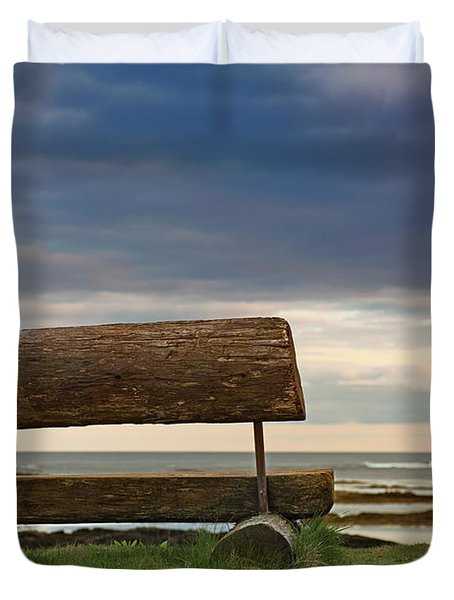 Duvet Cover featuring the photograph Solitude.. by Nina Stavlund