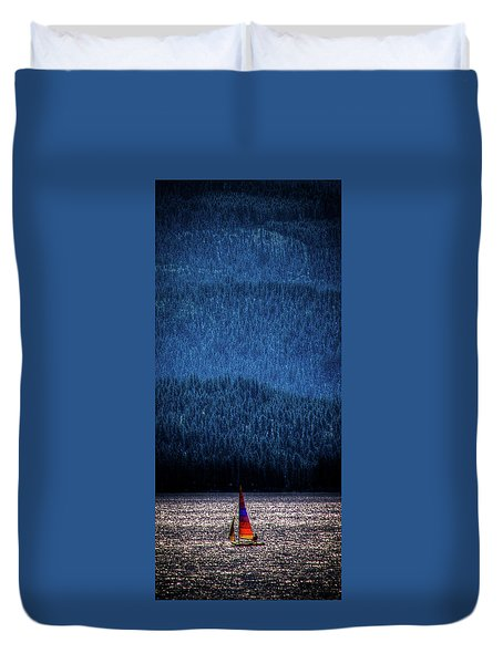 Duvet Cover featuring the photograph Solitude On Priest Lake by David Patterson