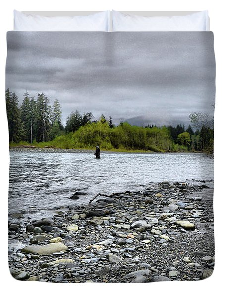 Solitude On The River Duvet Cover