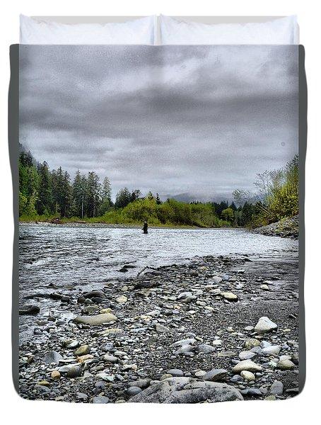 Solitude On The River Duvet Cover