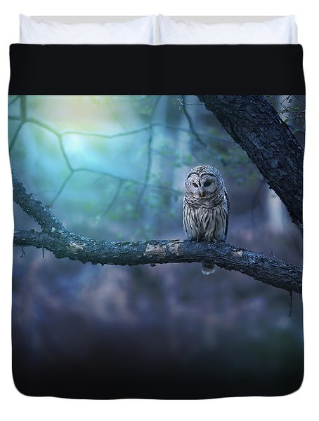 Solitude - Square Duvet Cover by Rob Blair