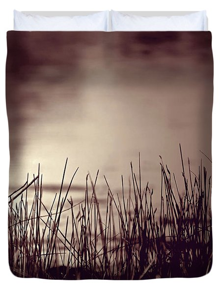 Duvet Cover featuring the photograph Solitude by Trish Mistric