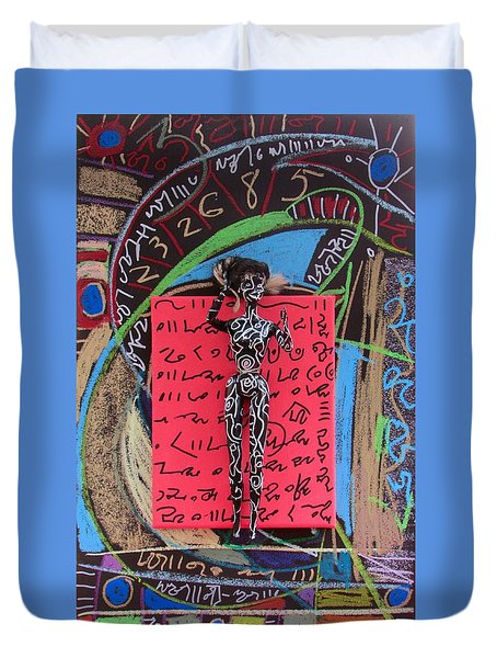 Duvet Cover featuring the painting Solomon's Seal Herbal Tincture by Clarity Artists