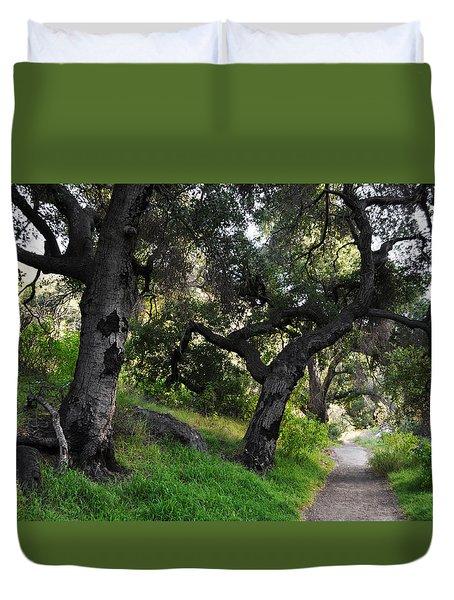 Solstice Canyon Live Oak Trail Duvet Cover