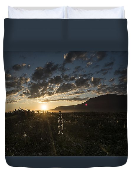 Solstice On The Slope Duvet Cover