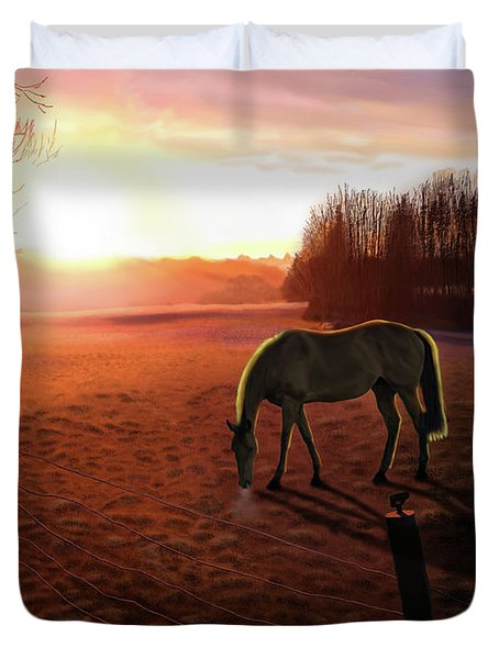 Solstice Sunrise Duvet Cover