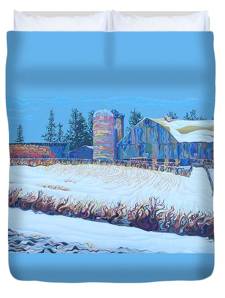 Solstice Supply Check Duvet Cover