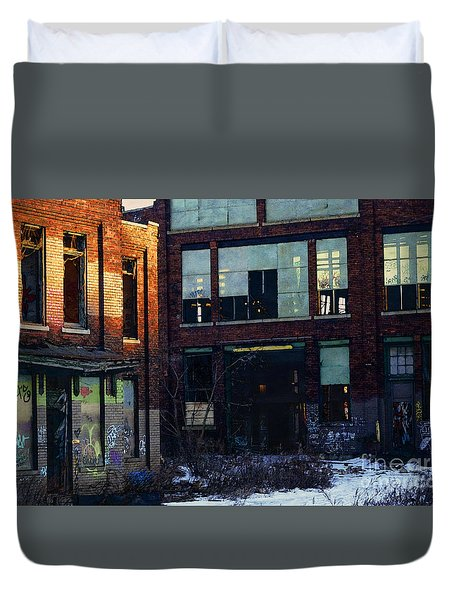 Solvay Coke Duvet Cover by David Blank