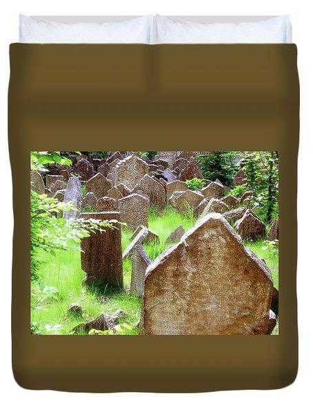 Somber Granite Duvet Cover by Patrick Murphy